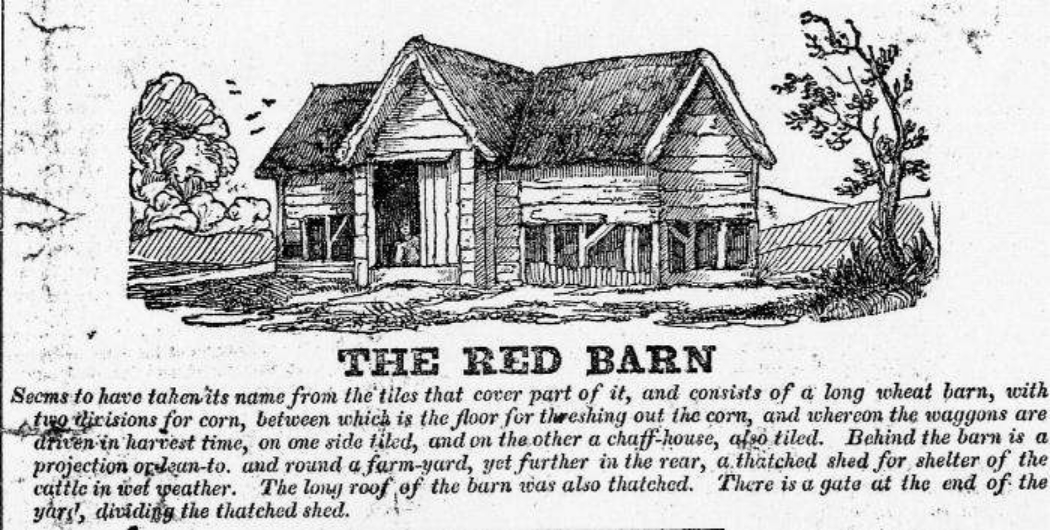 Another Red Barn Drawing